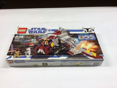 Lot 1 - Lego 8010 Darth Vader, 75139 Battle on Takodana with mini figs,  8019 Republic Attack Shuttle with mini figs, all including instructions, Boxed