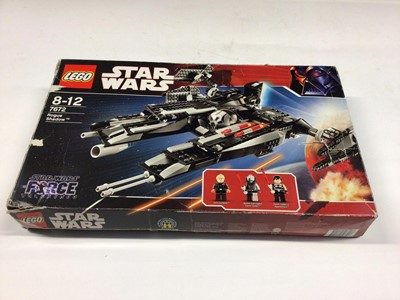 Lot 2 - Lego 7672  Rogue Shadow, 7778 Millennium Falcon (Midi), 7915 Imperial V-Wing, all including instructions, Boxed