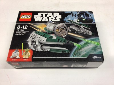 Lot 3 - Lego 7141 Naboo Fighter, 75168 Yoda Jedi Star Fighter, 75183 Darth Vader Transformation, 9489 Rebel Trooper, all including mini figs, instructions (except 75168 available on line), Boxed