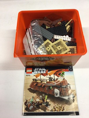 Lot 6 - Lego 75093 Death Star Final Duel, 6210 Jabba Sail Barge, 6210 Jabba Sail Barge, all including instructions and mini figs, Not boxed