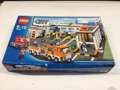 Lot 8 - Lego 7642 Garage, 7637 Farm Set, including minifigs and instructions, Boxed