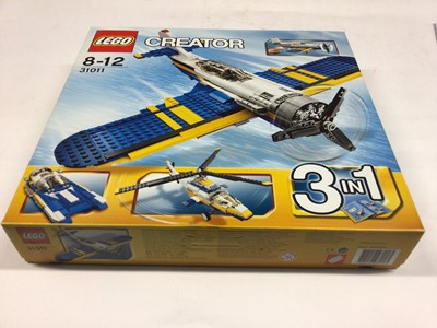 Lot 15 - Lego Creator 31011 Plane 3 in 1, plus two 6745 Plane 3 in 1, with instructions, Boxed