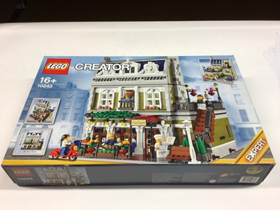 Lot 20 - Lego Creator Expert 10260 Downtown Diner, 10243 Parisian Restaurant, including mini figs and instructions, Boxed