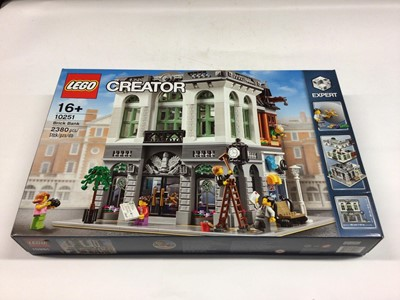 Lot 21 - Lego Creator Expert 10264 Corner Garage, 10251 Brick Bank, 10246 Detective Office, including minifigs and instructions, Boxed