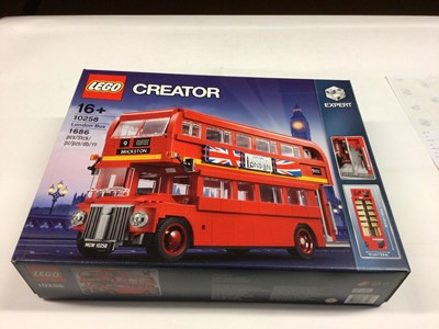 Lot 23 - Lego Creator Expert 10258 London Bus, 10242 Mini Cooper both with instructions and boxed, 10220 Volkswagen Camper (not boxed), with instructions available on line