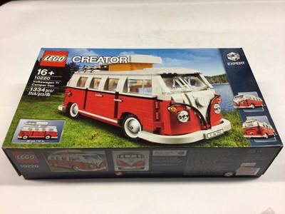 Lot 24 - Lego Creator Expert 10242 Mini Cooper, 10220 Volkswagen Camper, with instructions, Boxed