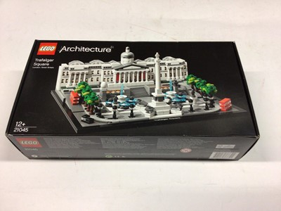 Lot 27 - Lego Architecture 21041 Great Wall of China, 21020 Trevi Fountain, 21045 Trafalgar Square, 21026 Venice, with instructions, Boxed