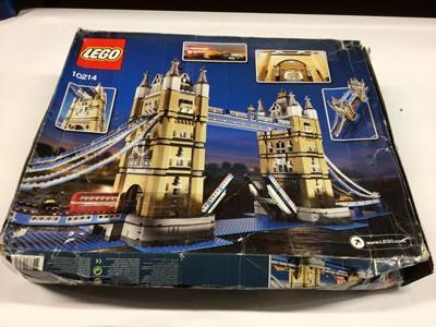 Lot 36 - Lego Buildings 10214 Tower Bridge, 10218 Pet Shop, with instructions, Boxed