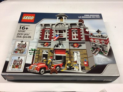 Lot 39 - Lego Building 10197 Fire Station, with instructions, Boxed