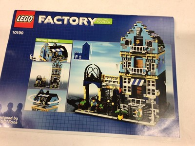 Lot 41 - Lego Building 10190 Market Street, with mini figs. Instructions available on line, No box