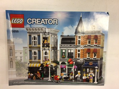 Lot 45 - Lego Building 10255 Assembly Square, with mini figs and instructions, No box plus 10189 Taj Mahal with instructions available on line, No boxes