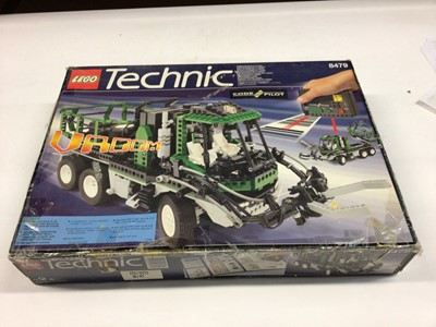 Lot 46 - Lego Technic 8478 Articulated Green Truck, boxed, 9396 Helicopter, no box, both with instructions