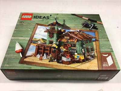Lot 62 - Lego 21310 Bait Shop, 76037 Marvel Superheroes both including mini figs, 10230 Mini Modular, all with instructions, boxed