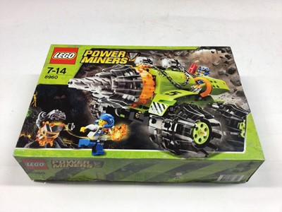 Lot 63 - Lego 8960 Power Miners, 6378 Shell Service Station, 70591 Niinjargo Kryptarium Prison Breakout including mini figs, 7593 Toy Story Buzz Star Command (one fig only), 21313 Ship in a Bottle, 4093 Inv...