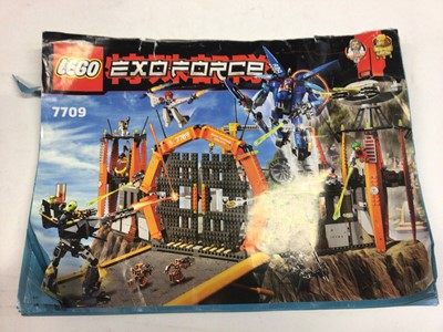 Lot 73 - Lego 6078 Castle Royal Drawbridge, 10226 Sopworth Camel, 7709 Exforce all with instructions, 4738 Harry Potter Haggards Hut with instructions available on line