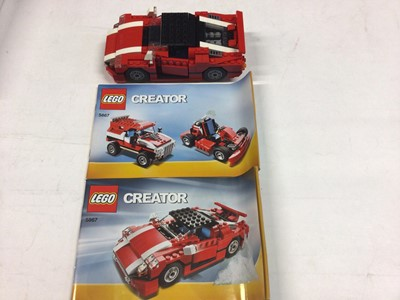 Lot 76 - Lego 5489 Ultimate Building Set, 5867 Super Speedster Car with instructions, 8674 Ferrari F1, 395 Rolls Royce with instructions available on line, no boxes