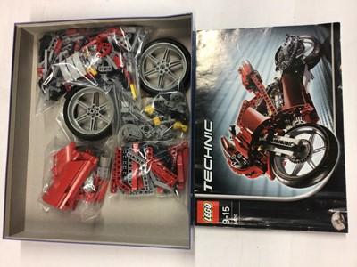 Lot 77 - Lego 8291 Green Motorbike, 8417 Motorbike, 8262 Quad Bike, 8420 Street Bike, 8408 Desert Ranger all with instructions, no boxes