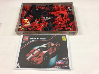 Lot 83 - Lego 8156 Ferrari with printed copy instructions, 8169 Lamborghini, 4896 Roadster, 8853 Excavator with instructions available