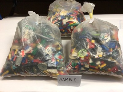 Lot 84 - Three bags of assorted mixed Lego bricks and accessories, weighing  approx. 15 Kg in total