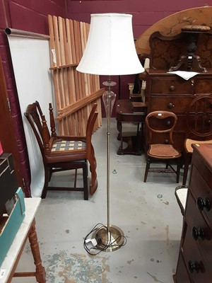 Lot 34 - Modern metal and glass standard lamp with shade