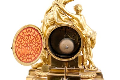 Lot 536 - Fine late 18th / early 19th century French figural mantel clock, signed Lepaute, probably Pierre-Basille Lepaute (1750-1843)