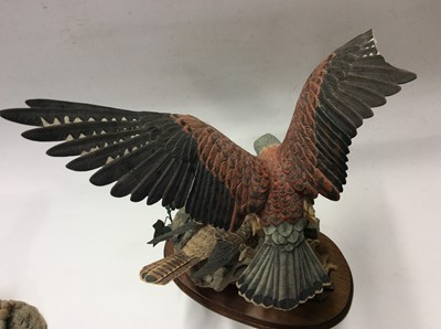 Lot 5 - Border Fine Arts limited edition model Eagle, No. 364 of 950 and two other Border Fine Arts birds of prey