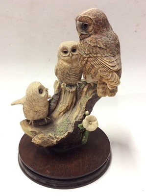 Lot 6 - Four Border Fine Arts models of owls, some by Ayres