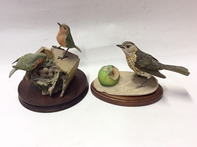 Lot 8 - Eight Border Fine Arts models of birds including a pheasant