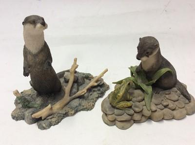 Lot 9 - Collection of twenty Border Fine Arts models including Red Stag, King Charles Cavalier, Badger, Hedgehog, Hare, Swan & Cygnets, Fox etc.
