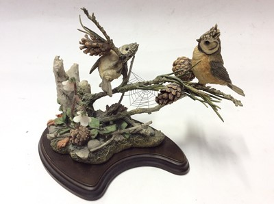 Lot 12 - Thirteen Country Artists models including Otter swimming, Elephent, Meercats, Autumn Gathering, Puffin etc.