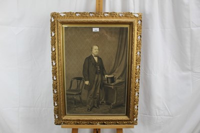 Lot 91 - English School, mid 19th century, pair of full length monochrome watercolour portraits of a Lady and Gentleman