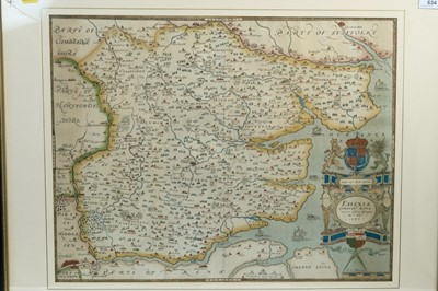 Lot 137 - Christophorus Saxton (1540-1610) - Map of Essex, 20th century facsimile