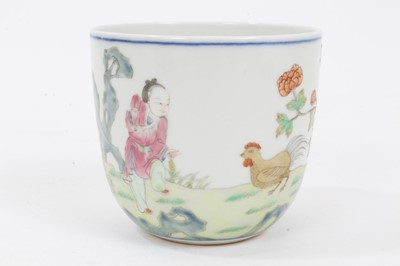 Lot 95 - Chinese chicken cup