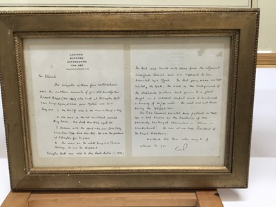 Lot 550 - Set of four watercolours by Sir John Tenniel, together with a framed letter