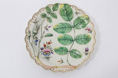 Lot 3 - Worcester 'Blind Earl' plate, c.1770