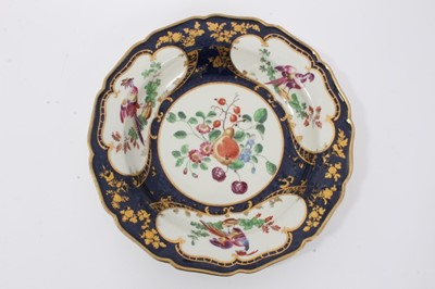 Lot 4 - Worcester 'Lady Mary Wortley Montagu' pattern deep plate, c.1770