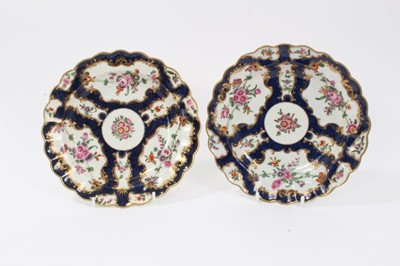 Lot 5 - Pair of Worcester dishes, c.1770