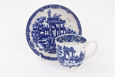 Lot 9 - Worcester coffee cup and saucer, c.1775