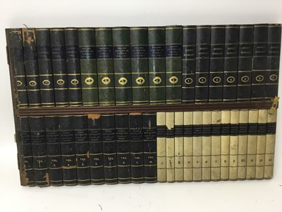Lot 398 - A large collection of faux book spine panels