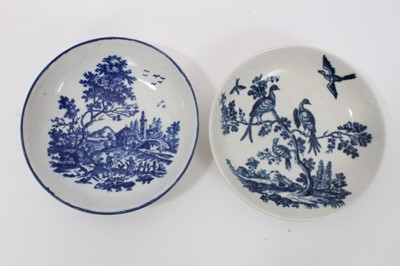 Lot 12 - Two Worcester saucers, c.1770
