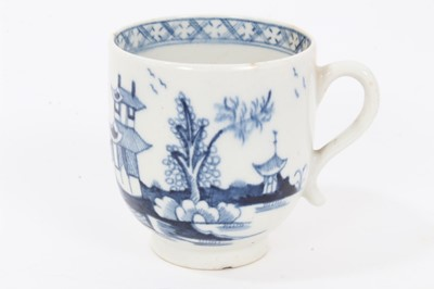 Lot 14 - 18th century Lowestoft blue and white coffee cup