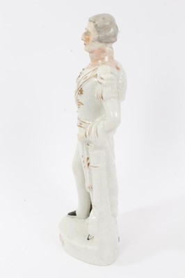 Lot 35 - Staffordshire pottery figure of Wellington, c.1860