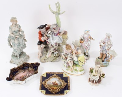 Lot 73 - Collection of continental porcelain