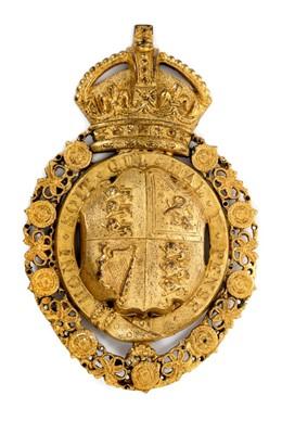 Lot 61 - Rare King George V ormolu Royal Coat of Arms carriage badge