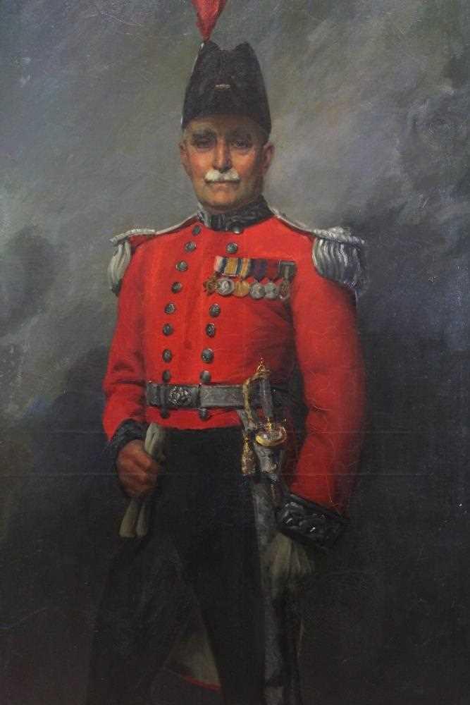 676 - Hal C Bevan-Petman, R.A. - 1930s full length portrait of Lt Colonel Frank Hilder
