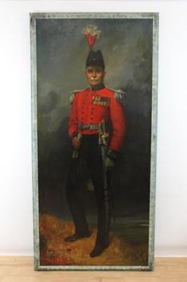Lot 676 - Hal C Bevan-Petman, R.A. - 1930s full length portrait of Lt Colonel Frank Hilder