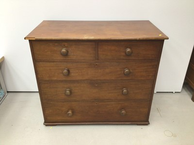 Lot 47 - Victorian mahogany  chest of two short and three long drawers