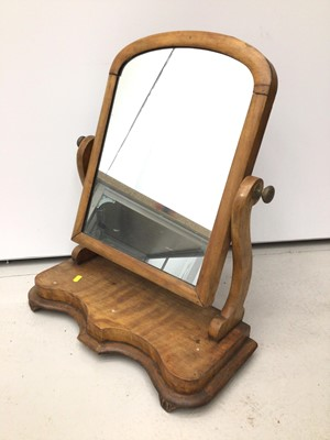 Lot 51 - Victorian walnut dressing table mirror, together with small oak bureau and prie Dieu chair