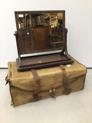 Lot 45 - Regency mahogany dressing table mirror and a trunk