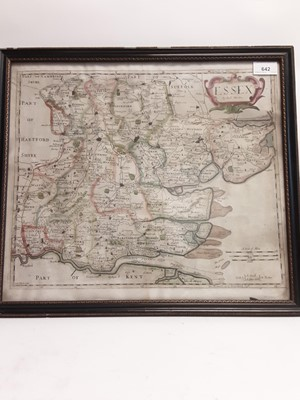 Lot 8 - Essex by Robert Morden, set in Antique frame